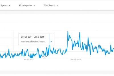 AMP Google trends five years