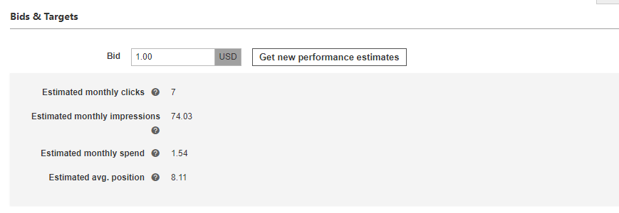 Performance Estimates on Bing