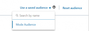 Use a saved audience on LinkedIn