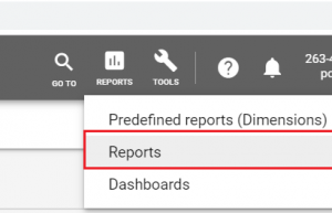 Create a report in Google ads