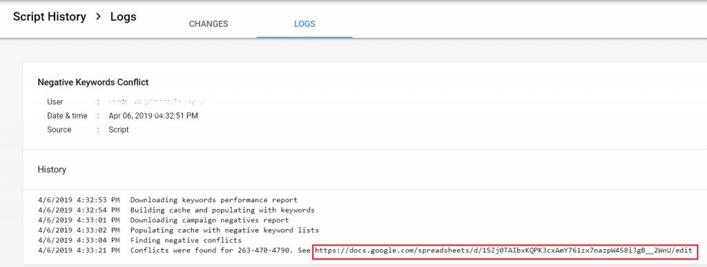 Script log in Google ads