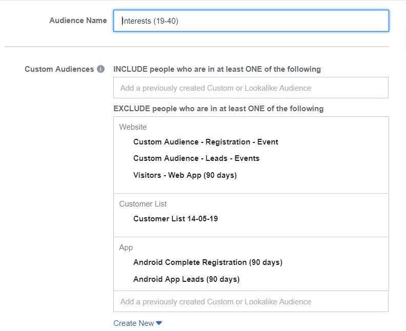 Tiếp thị loại trừ trên Facebook
