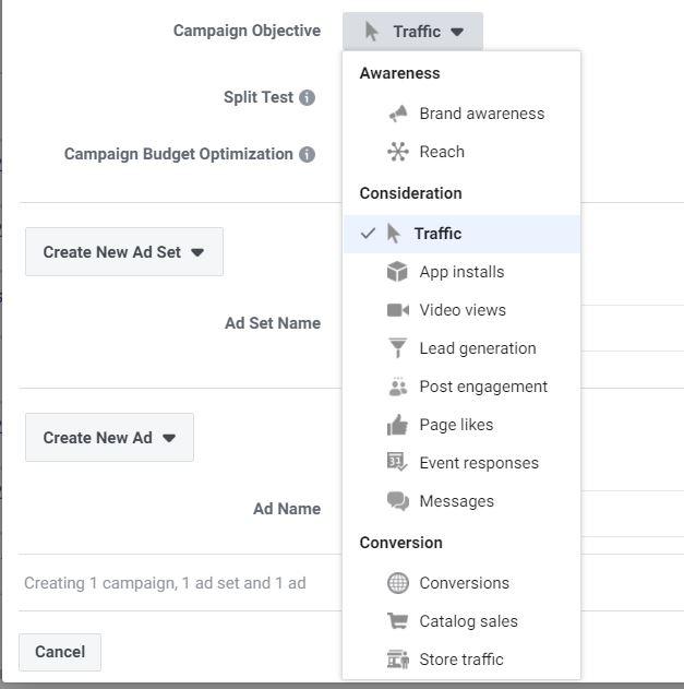 Mục tiêu chiến dịch của Facebook